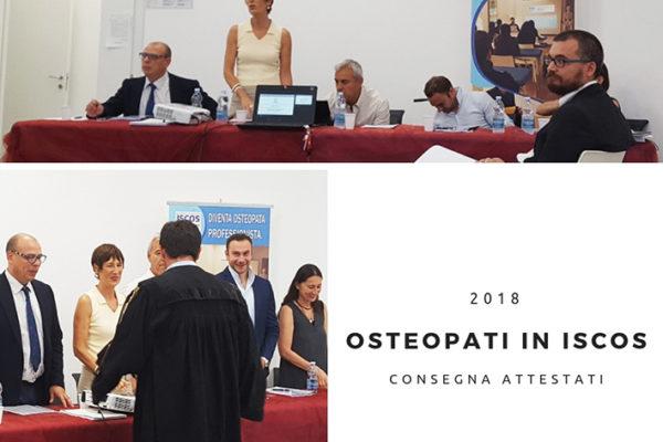 Consegna diplomi in osteopatia Iscos Formazione